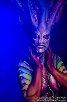 Bodypainting&Sfx made with Richard van der Laan and Enrico Lein at JAMvention 2015 Model: Tessa Tessa - Photo: Francesca Calamita