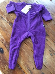 Bonds Wondersuit Purple With Mittens Bnwt Size 000 Baby Girl Onesie One Piece