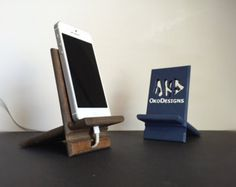 Items similar to wood iPhone 4 / 4S / 5C stand.  cherry with charcoal. on Etsy