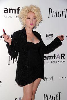 Cyndi Lauper Short Curls
