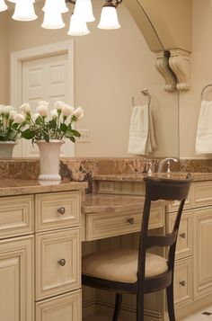 Custom Bathroom Vanities With Makeup Area bathroom vanity with makeup vanity attached | choice of sink and