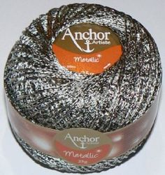 Anchor Artiste Metallic Crochet No.5 Thread 324 PEWTER