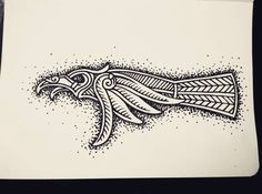 viking crow art | Raven From The North — #drawing #sketching #doodling # ...