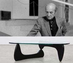 Isamu Noguchi (17 de noviembre de 1904 - Los Ángeles, 30 de diciembre de 1988) fue un escultor y diseñador estadounidense-japonés.  Realizada en cristal y madera, la Mesa Noguchi se trata de una pieza de diseño orgánico. La mesa fue diseñada en 1944 en plena ebullición del movimiento orgánico. Su forma proviene de un estudio de estabilidad realizado por el propio escultor. Está formado por tres piezas, dos de ellas suspendidas en el aire.