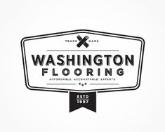 Washington Flooring Retro Vintage Logo Vintage Logos, Retro Vintage, Washington, Logo Design, Design Inspiration, Inspire, Flooring, Business, Wood Flooring