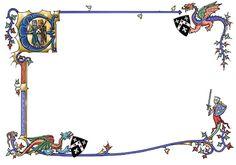 Medieval border with dragons by dashinvaine.deviantart.com on @deviantART