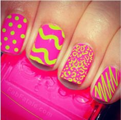 Summer neon nails--someone hook me up :)