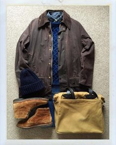 The.Daily.Obsessions — Today's Outfit. #Barbour #Beaufort #Inverallan...
