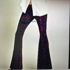 Free people velvet flares So in style bought there but r to big I wear a 4 would fix a size 6 to 8 Free People Pants Boot Cut & Flare