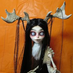 Wendigo Halloween Skeleta Calevaras Custom Doll by Dollightful [Katherine Murray] Spoopy!