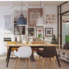 regram @ftb_decor Adoramos cada detalhe dessa decor!  #designdeinteriores #sala #decor