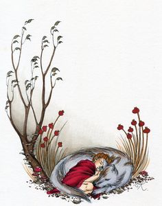 Little Red and the Wolf by Kitty-Grimm.deviantart.com on @deviantART