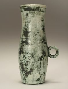 French art pottery vase by Jacques Blin (1920-1995); c. 1950.