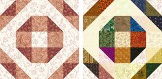 Old Fashioned Wedding Ring Quilt Block Pattern