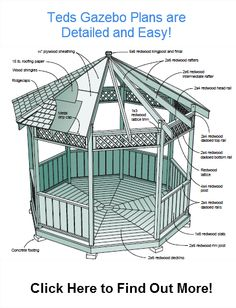 Gazebo Plans  all Project Sizes. Build Your Dream Gazebo