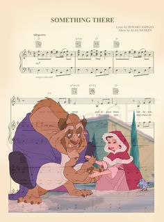Beauty and the Beast Something There Winter Scene Sheet Music