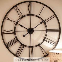 Luxurious Large Iron Wall Clock Hickory Dickory Clock