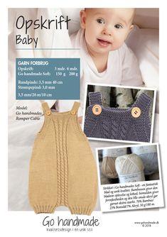 Romper Classic GARN FORBRUG: Str. 3 måneder: 150 g Go handmade Soft garn Str. 6 måneder: 200 g Go...