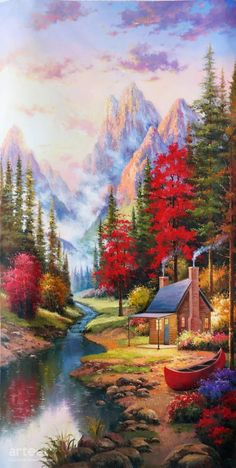 Fairyland Fairyland, Art Painting / Oil Painting For Sale – Arteet™ Scenery Paintings, Art Paintings For Sale, Nature Paintings, Beautiful Paintings, Fantasy Landscape, Landscape Art, Landscape Paintings, Simple Oil Painting, Oil Painting Abstract