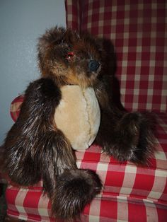 Real beaver/sheared beaver teddy bear by ArcticFurBears on Etsy,