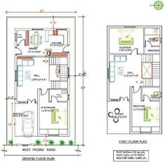 house plan for 25 feet by 52 feet plot plot size 144 square yards