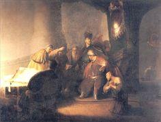 < Иуда раскаивающийся, возвращение серебряных слитков > :: Харменс ван Рейн Рембрандт - Rembrandt (Рембрандт)