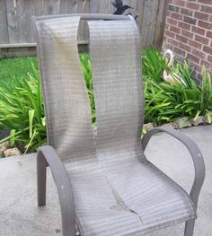 Who Knew You Could Replace The Slings On Patio Furniture? Definitely Need  To Replace Some On Our Chairs!