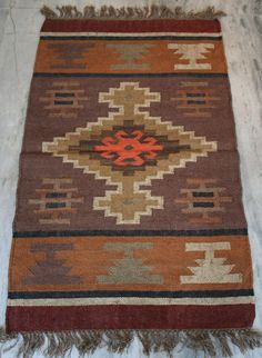 "Anatolian Turkish kayseri Nomads Kilim rug 30"" x 48"" Area Rug Kelim Carpet #Turkish"