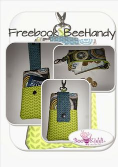Diy Bags Tutorial, Sewing Accessories, Couture, Softies, Cell Phone Cases, Free Pattern, Lunch Box, Wallet, Toys