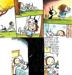 HISTORIETAS DE LINIERS Alter Ego, Humor, Pretty Good, Illustrators, Peanuts Comics, Kitty, Cartoon, Manga, My Love