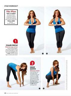 Jennifer Love Hewitt's shape workout. Perfect for curvy girls