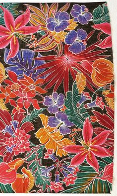 Tropical Floral Print via Etsy.