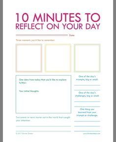 10 minute reflection