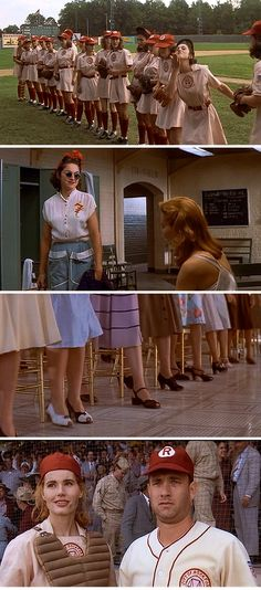 """A League of Their Own"" style via @Mod Cloth. It's possible that I've seen this movie about 8,000 times. SO good."
