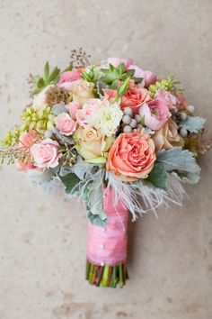 pink ivory blush green sherbets roses yellow pastels