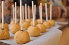 Cake Pops waiting to be dipped in chocolate