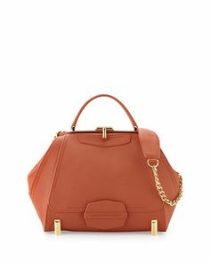 Daphne Tote-Handle Doctor Bag, Burnt Orange by Z Spoke Zac Posen at Neiman Marcus.