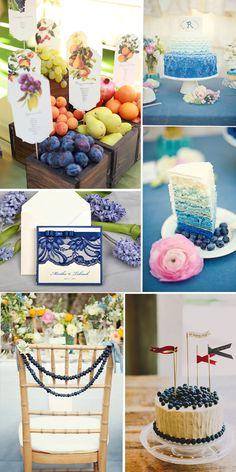 7 DIY Navy Blau Heiderlbeere Ombre Hochzeitstorte Spitze Hochzeitskarte  Stuhl Dekoration Ideen DIY Obst Hochzeit mit chic dekorierten Apfel f08eb17ad4