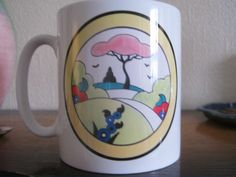 Clarice Cliff style mug Illey By Chris Rogers.