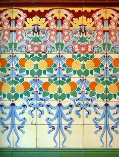 Beautiful Tiles from Barcelona, Catalunya , Spain !!!