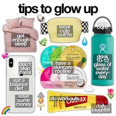Beauty Tips For Glowing Skin, Health And Beauty Tips, Beauty Skin, Face Beauty, Beauty Tips For Teens, Life Hacks For School, Girl Life Hacks, Girls Life, Glo Up