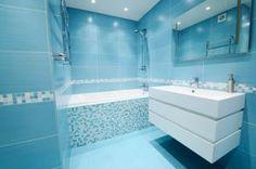 Cómo decorar un baño en color azul