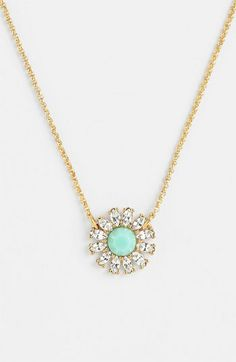 mint pendant necklace // kate spade