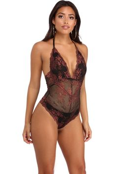 Copper Sheer Infatuation Lace Bodysuit | WindsorCloud