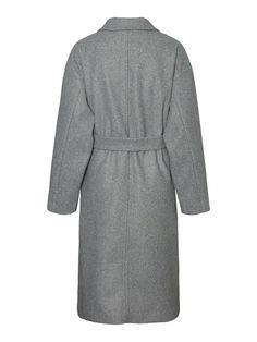 Fortune long wrap coat | GREY Long Jackets, Jackets For Women, Wrap Coat, Models, Winter Accessories, Outerwear Women, Dresses For Work, Shirt Dress, Mens Tops