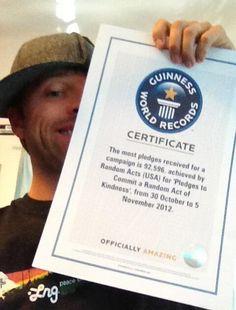 Misha with his GISHWES world record