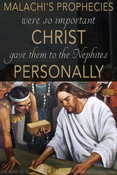 Why did Jesus give the Nephites the words of Malachi, an Old Testament prophet who lived after Nephi arrived in the Americas? Based on the recent destruction that the Nephites had experienced and Christ's sermon about the last days, it makes sense why Christ would share Malachi's words. https://knowhy.bookofmormoncentral.org/content/why-did-jesus-give-the-nephites-malachis-prophecies #BookofMormon #LastDays #SecondComing #Christ #Savior #Faith #LDS #Mormon #Malachi