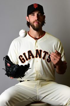 Madison Bumgarner #40 of the San Francisco Giants poses for a portait during a MLB photo day at Scottsdale Stadium on February 20, 2017 in Scottsdale, Arizona.