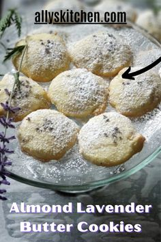 Wanna make the BEST almond lavender butter cookies in the world? Cookies with both lavender and almond flavors? Yep, this is your go to recipe! #easycookie #almondcookie Best Almond Butter, Almond Butter Cookies, Butter Cookies Recipe, Homemade Desserts, Easy Desserts, Delicious Desserts, Sweet Recipes, Easy Recipes, My Favorite Food