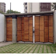 Pergola Modernas Entrada 53 Ideas For 2019 Sliding Garage Doors, Fence Doors, Sliding Gate, Front Gates, Entrance Gates, Tor Design, House Design, Architecture Renovation, Pergola
